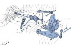 Ferrari F12 TDF Lenkung Hinterachse Rechts STELLGLIED RH KPL 329665