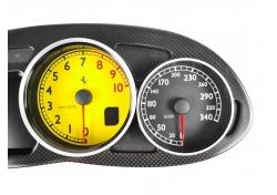 Ferrari 612 F137 TACHO KOMBIINSTRUMENT COMPLETE INSTRUMENT BOARD -Yellow revolution 232237