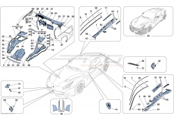 Ferrari F12 TDF Berlinetta CARBON FIBRE UNDERDOOR COVER SIDESKIRT SET 87533000 87532900