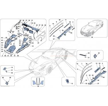Ferrari F12 TDF Berlinetta CARBON FIBRE UNDERDOOR COVER SIDESKIRT 87533000 87532900