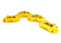 Ferrari California T Satz Bremssättel Gelb Brake Calipers Yellow Set 297309 297308 311677 311676