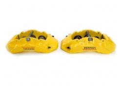 Ferrari California T Satz Bremssättel Gelb Brake Calipers Yellow Set 297309 297308 311677 311676