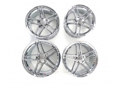 Corvette Z06 Chrom Felgen Chrome Wheel Rims SET