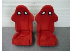 Ferrari F131 F360 Challenge stradale Racing Seats Red Alcantara