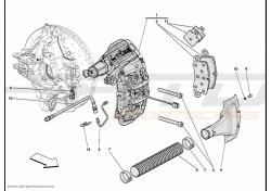 Ferrari 458 Speciale rear lh brake caliper 305684