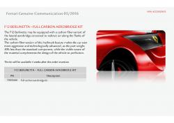 Ferrari F12 Berlinetta Full Carbon Aerobridge Kit 70003668